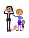 La pelea de la familia Imagen de archivo libre de regalías