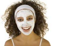 La pelle del fronte di pulizia Fotografia Stock