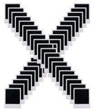 La pellicola del Polaroid soppressione la lettera X Immagine Stock Libera da Diritti