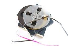 La pellicola per il registratore di nastro della bobina Immagini Stock