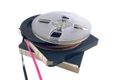 La pellicola per il registratore di nastro della bobina Fotografia Stock