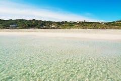 La Pelosa beach in Sardinia. Italy Royalty Free Stock Photos