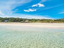 La Pelosa beach seen from the water. Sardinia Stock Photo