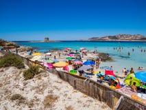 La Pelosa Beach, Stintino, Italy stock image
