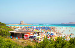 La Pelosa beach stock photos
