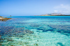 La Pelosa Stintino - Beautiful coast of sardinia in the north Stock Photos