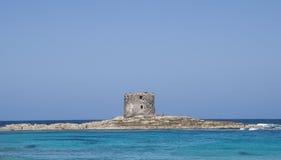 La Pelosa Stintino Sardinia island Italy. Summer Royalty Free Stock Photo