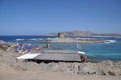 La Pelosa Stintino Sardinia island Italy Stock Photo