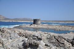 La Pelosa Stintino Sardinia island Italy. Summer Royalty Free Stock Photography