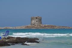 La Pelosa Stintino Sardinia island Italy. Summer Stock Photography
