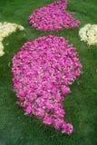La pelouse et la décoration de fleurs Photo libre de droits