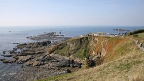 La península Cornualles Inglaterra Reino Unido del lagarto almacen de video