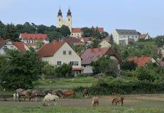 La península de Tihany en Hungría Fotografía de archivo