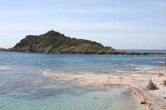 La península del casquillo Taillat en la riviera francesa Imagen de archivo libre de regalías