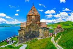 La península pintoresca de Sevan Fotografía de archivo libre de regalías