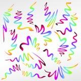 La pendenza astratta ha colorato i nastri isolati su bianco Immagine Stock