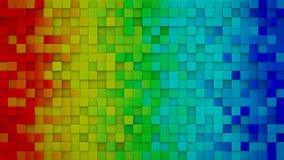 La pendenza dell'arcobaleno cuba 3D rende illustrazione vettoriale