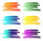 La pendenza di colore di acqua segna la raccolta del fondo illustrazione di stock