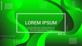 La pendenza fluida modella la composizione Manifesti futuristici di progettazione Vettore Eps10 Colore d'avanguardia e moderno de illustrazione di stock