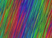 La pendenza multicolore della luce al neon allinea gli ambiti di provenienza Immagini Stock