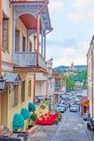 La pendiente de la colina de Sololaki en Tbilisi Imágenes de archivo libres de regalías