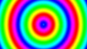 La pendiente espectral del arco iris suena la mudanza rápidamente hacia fuera, inconsútil almacen de metraje de vídeo