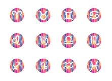 La pendiente a pulso forma muestras del zodiaco Imagen de archivo