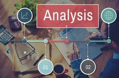 La penetración de la información del análisis conecta concepto de los datos imagen de archivo libre de regalías