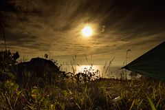 La penisola di Estremo Oriente russo del nome del ` s di Gamov Fotografia Stock