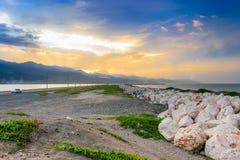 La penisola di Palisadoes a Kingston, Giamaica fotografia stock libera da diritti