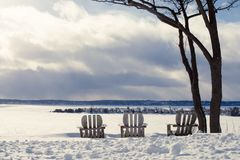 La penisola di Snowy trascura del punto del porto fotografie stock libere da diritti