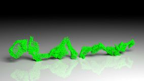La pensión de vejez disuelve en partículas y desaparece ilustración del vector