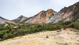La pente du bâti Sibayak Image libre de droits