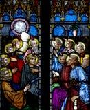 La Pentecôte en verre souillé Photographie stock libre de droits