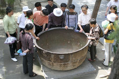 La pentola del ghisa di Shaolin Temple fotografia stock