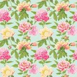 La peonía del vintage florece el fondo libre illustration
