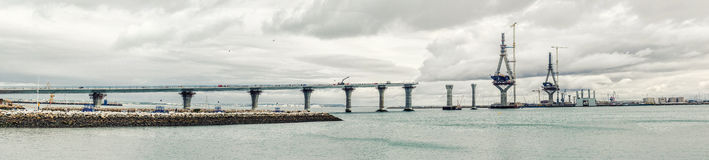La Pepa Bridge construction Royalty Free Stock Photography