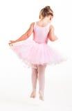 La pequeña bailarina salta imagen de archivo libre de regalías