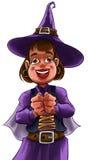 La pequeña bruja Imagen de archivo libre de regalías