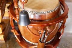 La pequeña campana y el tambor Imagen de archivo libre de regalías