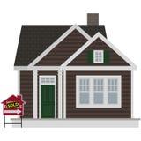 La pequeña casa de Brown para la venta vendió el ejemplo ilustración del vector