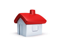 La pequeña casa simbólica 3d rinde Imagenes de archivo