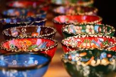 La pequeña cerámica colorida hermosa rueda en Mostar, Bosnia y Herzegovina Fotografía de archivo libre de regalías