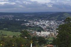 La pequeña ciudad desde arriba Imágenes de archivo libres de regalías