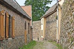 Pared de la ciudad en Lychen en el Uckermark Imagen de archivo libre de regalías