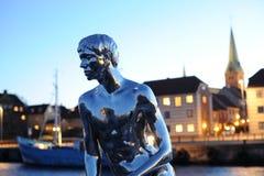 La pequeña estatua de Merman foto de archivo
