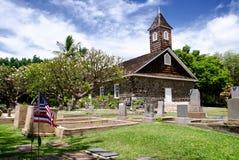 La pequeña iglesia de la lava celebra Pascua, Makena, Maui, Hawaii Imagenes de archivo