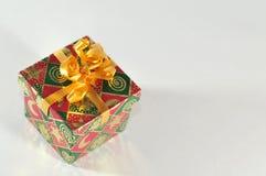 La pequeña Navidad del rectángulo de regalo Fotografía de archivo
