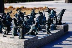La pequeña obra de arte situó a la orquesta enana de las FO en Wroclaw, Polonia Imagen de archivo