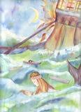 La pequeña sirena stock de ilustración